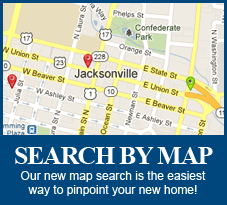 Jacksonville FL, Real Estate Search by Map